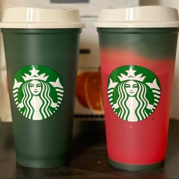 1 STARBUCKS COLOR CHANGING HOT CUP GREEN T…